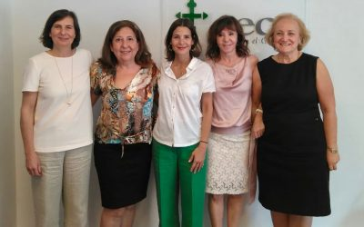Firma del acuerdo entre AECC y WomenCeo